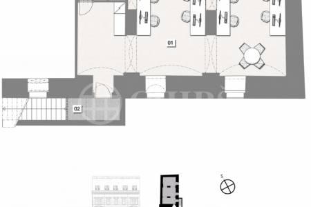 Prodej nebytové jednotky 73,4 m , Praha 1 - Nové město, ul. Opletalova 1566/30