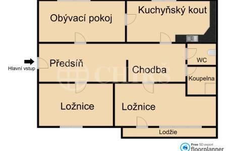 Prodej bytu 3+1, OV, 62m2, ul. Pražského 610/25, Praha - 5 Hlubočepy