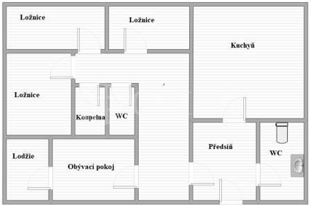 Prodej bytu 4+1 s lodžií, OV, 89m2, ul. Renoirova 622/5, Praha 5 - Hlubočepy