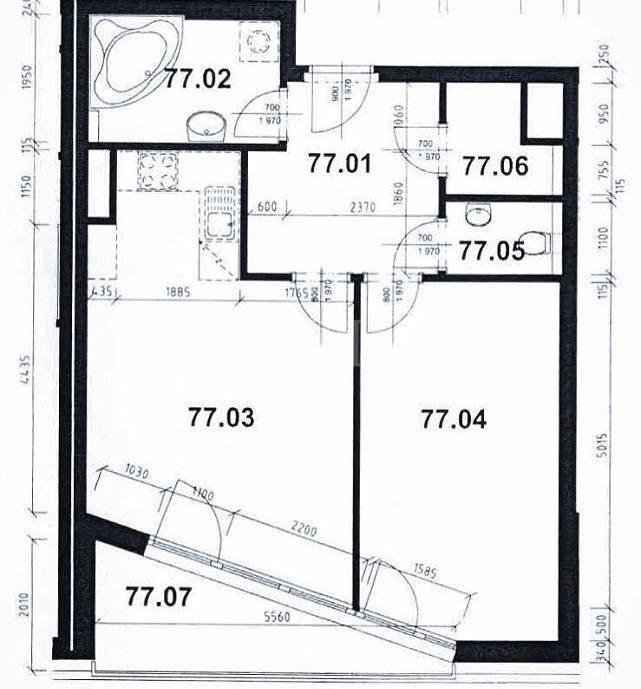 Prodej bytu 2+kk/L, 68m2, ul. Tulešická 458/4, Praha 5 - Zličín