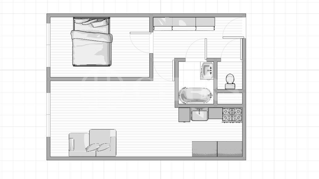 Pronájem bytu 2+kk, OV, 49m2, ul. V hůrkách 2144/3, Praha 5 - Hůrka