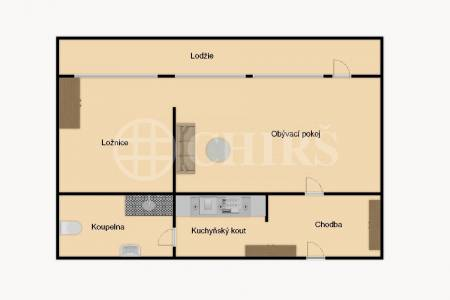 Prodej bytu 1+1 s lodžií, OV, 36m2, ul. Jílovská 1156/53, Praha 4 - Braník