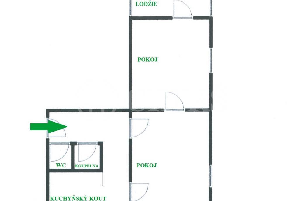 Prodej bytu 2+1 s lodžií, OV, 56m2, Revoluční 666, Kralupy nad Vltavou - Lobeček, okr. Mělník