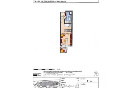 Prodej bytu 1+kk s balkonem, DV, 26m2, ul. Zakšínská 615/17, Praha 9 - Střížkov