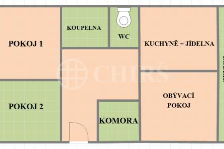 Prodej bytu 3+1/L, OV, 80m2, Ciolkovského, Praha 6 - Ruzyně