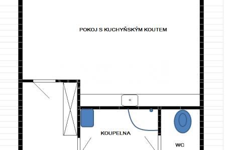 Pronájem jednotky 1+kk, OV, 32m2, ul. Tlumačovská 2766/26a, Praha 5 – Stodůlky