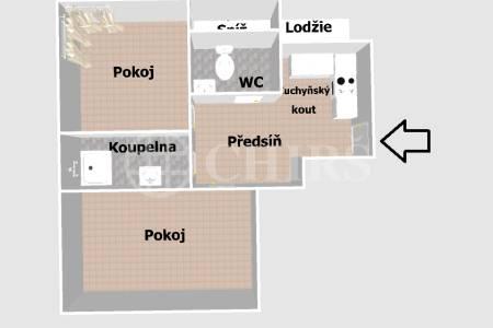 Prodej bytu 2+kk s lodžií, 56 m2, OV, ul. Na Hanspaulce 1838/19, Praha 6 - Hanspaulka
