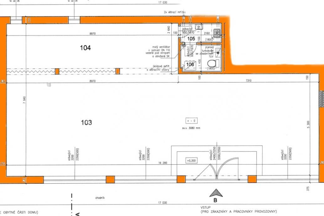 Pronájem nebytového prostoru, 126,60 m2, ul. Bělohorská 2336/243, P-6 Břevnov