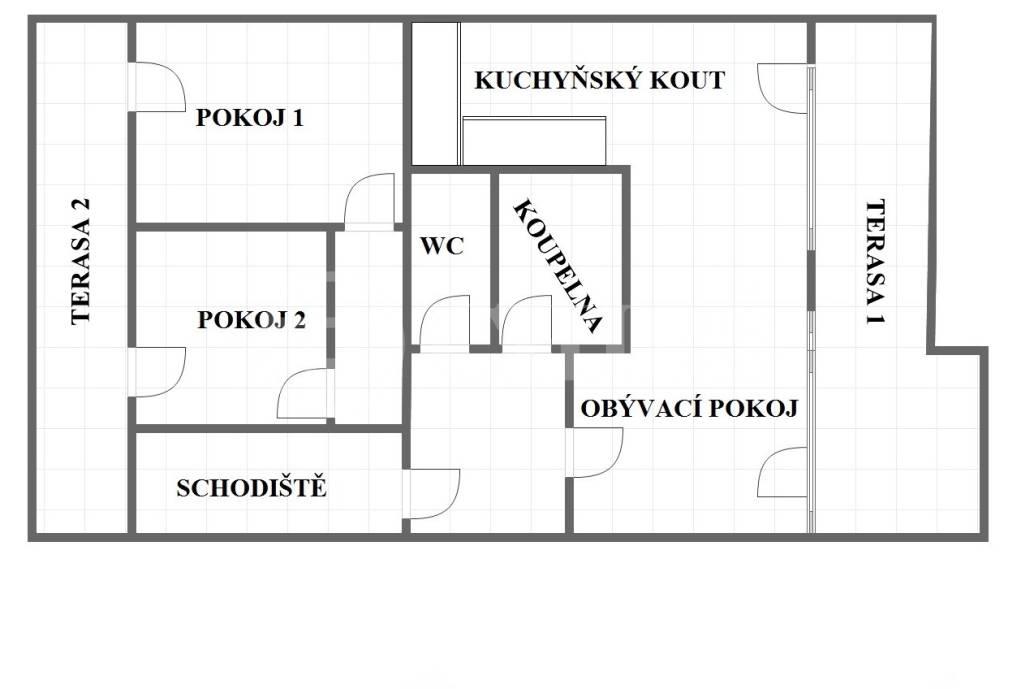 Prodej bytu 3kk/B/příp.T (č. 17), OV, 74 m2, ul. Plzeňská 1972/158, P-5 Smíchov