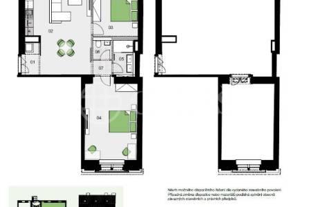 Prodej bytu 3+kk, OV, 76,7 m2, Řehořova 959/11, Praha 3-Žižkov