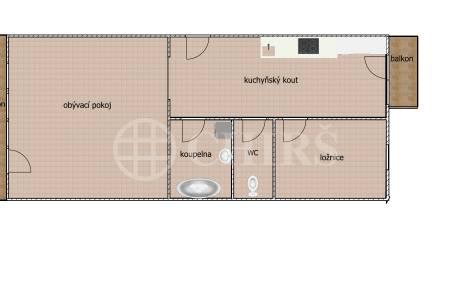 Prodej bytu 2+kk se dvěma balkóny, OV, 76 m2 , ul. Národní obrany 571/32, Praha 6 - Bubeneč