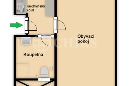 Pronájem komerčního objektu 1+1, OV, 26m2, ul. Ostrovského 2263/31, Praha 5 - Smíchov