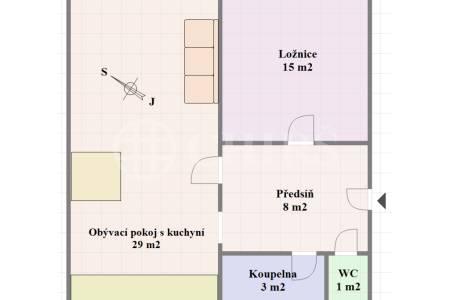 Prodej bytu 2+kk, OV, 60m2, ul. Bělohorská 1654/108, P-6 Břevnov