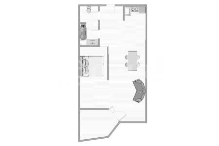 Pronájem bytu 2+kk s lodžií, OV, 48m2, ul. Voskovcova 1130/34, Praha 5 - Hlubočepy