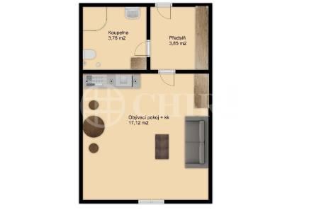 Prodej bytu 1+kk, OV, 25m2, ul. Tyršova 1832/7, Praha 2 - Nové Město