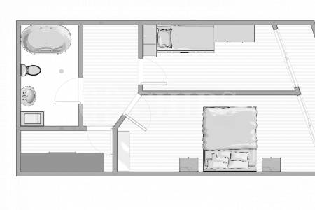 Pronájem bytu 3+kk/T, OV, 70m2, ul. U Kamýku 284/11, Praha 4 - Kamýk