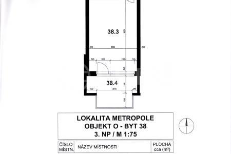 Prodej bytu 1+kk s balkonem, OV, 28m2, ul. Prušánecká 479/2, Praha 5 - Zličín