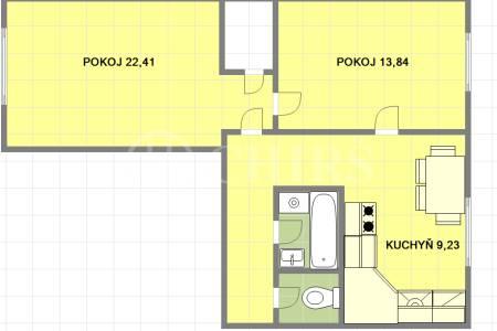 Prodej bytu 2+1, OV, 55 m2, Praha 6 - Břevnov, ul.  Bělohorská