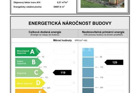 Pronájem bytu 3+kk s terasou a 2x garážovým stáním, OV, 72m2, ul. Voskovcova 1130/28, Praha 5 - Hlubočepy