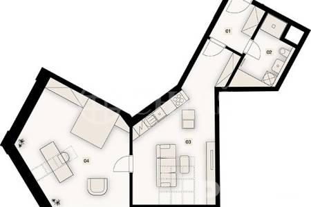 Prodej bytu 2+kk o velikosti 70,9 m2,Bořivojova 1049/57, Praha 3 - Žižkov