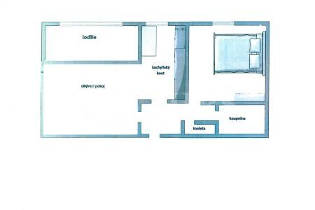 Pronájem bytu 2+kk s lodžií, OV, 58m2, ul. Radlická 3207/88a, Praha 5 - Smíchov