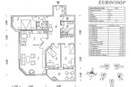 Pronájem bytu 4+1 s lodžií a garážovým stáním, OV, 135m2, ul. Volutová 2524/12, Praha 5 - Stodůlky