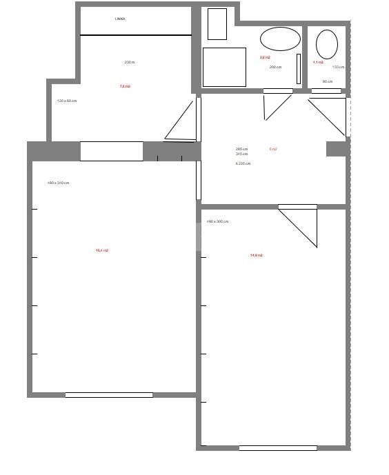 Pronájem bytu 2+kk, OV, 51m2, ul. Bělohorská 1651/102, Praha 6 - Břevnov