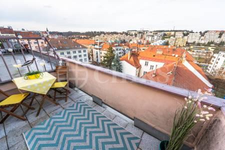 Prodej bytu 1+1 s terasou, OV, 42m2, ul. Bělohorská 1688/122, P-6 Břevnov