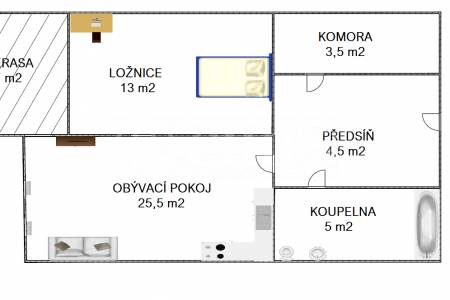 Prodej bytu 2+kk, 51m2 s balkonem, ul. Zakšínská 607/11, Praha 9 – Střížkov