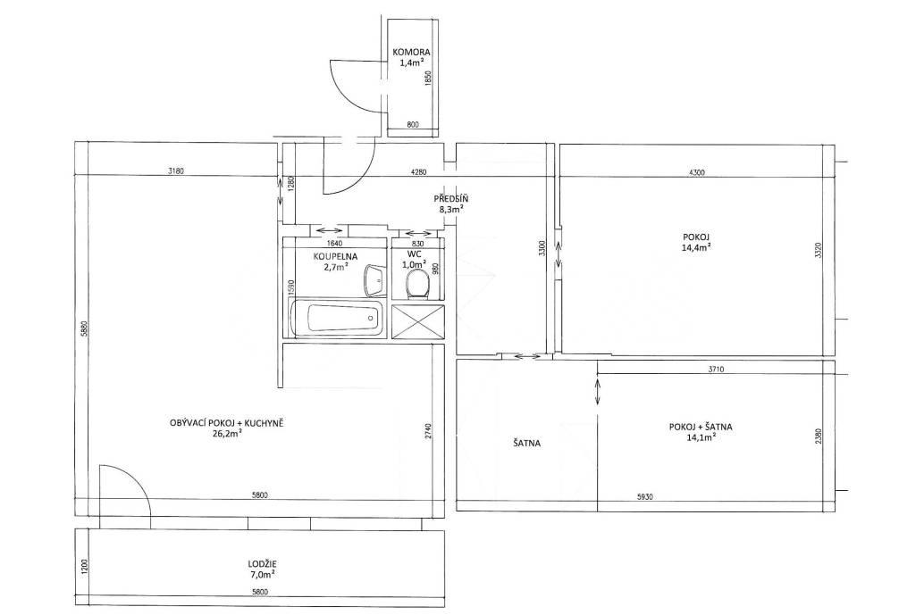 Prodej bytu 3+kk, OV, 77m2, ul. Náměstí Bořislavka 2075/11, Praha 6 - Dejvice