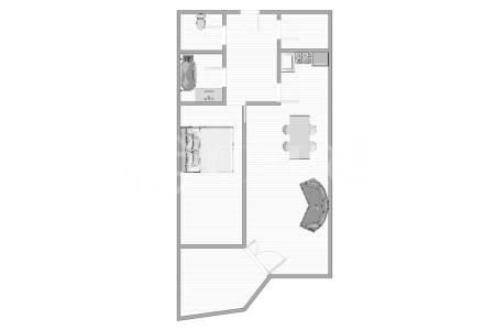 Prodej bytu 2+kk/L/GS, OV, 47m2, ul. Voskovcova 1130/32, Praha 5 - Hlubočepy