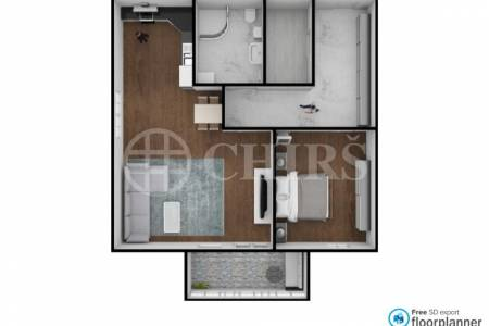 Prodej bytu 2+kk s balkonem, OV, 50m2, ul. Želetická, Praha 5 - Zličín