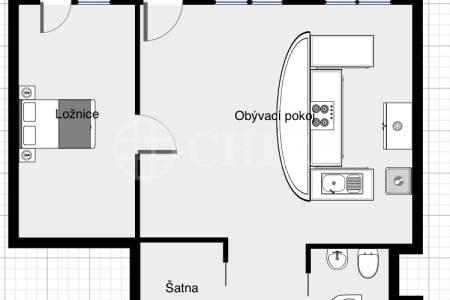 Prodej bytu 2+kk/L, OV, 71,44m2, ul. Volutová 2520/10, P-5 Stodůlky