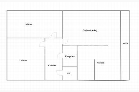 Prodej bytu 3+1, DV, 77m2, ul. Tobrucká 5, P-6 Vokovice