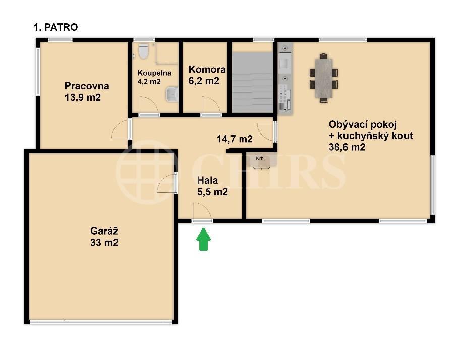 Prodej rodinného domu 5+kk s terasami, OV, 147m2, Za Fořtem 891/2, Praha 5 - Slivenec