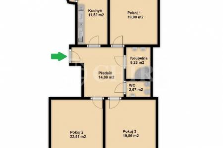 Prodej bytu 3+1 s balkonem a lodžií, OV, 105m2, ul. Mydlařka 164/9, Praha 6  - Dejvice