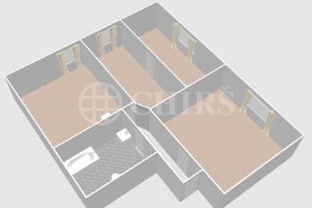 Pronájem bytu 3+1, OV, 75m2, ul. Na Pískách 1266/65, Praha 6 - Hanspaulka