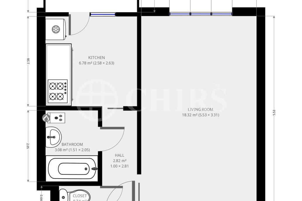 Pronájem bytu 1+1/B, 38 m2, Předvoje 13, Praha 6 - Břevnov