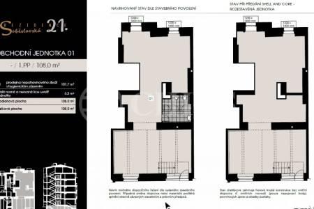 Prodej obchodní jednotky, 108 m², ul. Soběslavská, Praha 3 – Vinohrady